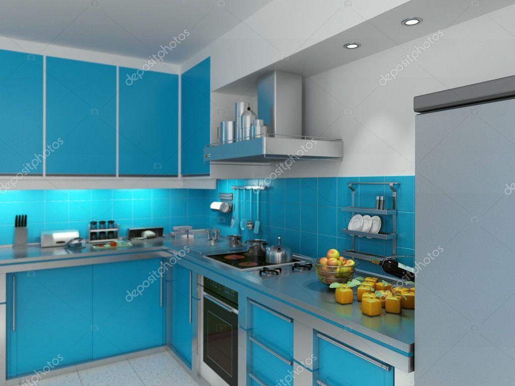 Turquoise keuken — Stockfoto © franckito #2292850