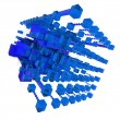 Abstract structure in blue — Stock Photo
