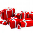 Gift boxes in red — Stock Photo