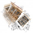 Foto Stock: Roof structure