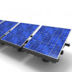 fila de paneles solares — Foto de Stock