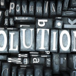 Solutions close-up - Foto de Stock