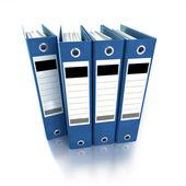 Blue ring binders — Stock Photo
