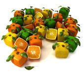 Cubic citrus — Stock Photo