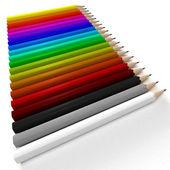 Different colored pencils diagonal — Stock Photo