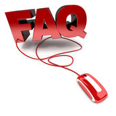 FAQ online — Stock Photo