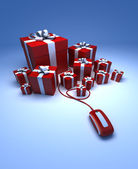Gifts online — Stock Photo