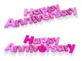 Happy anniversary in pink shade — Stock Photo