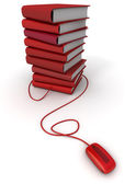 Red e-books — Stock Photo