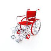 Red wheelchair — Stock Photo