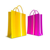 Shopping bags duo — Stock Photo