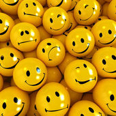 Smilies with different expressions — Stock Photo