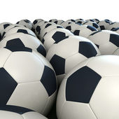 Soccer balls arrangement — Stock Photo