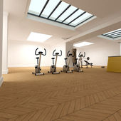 Spinning section on the gym — Stock Photo