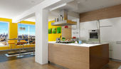 Penthouse kitchen — Stock Photo