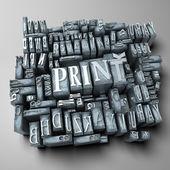 Print — 图库照片