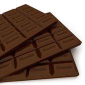 Close-up снятый на трех шоколадные таблетки — Стоковое фото