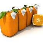 Four orange juices and a half — Stock Photo #2420628