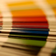 Close up shot on a color sampler — Stock Photo #2456527