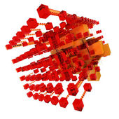 Abstract structure in red and orange — Stock Photo