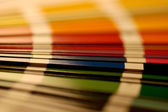 Close up shot on a color sampler — Stock fotografie