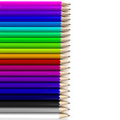 Colorful pencil background — Stock Photo