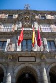 Detail of the façade of Madrid city coun — Stok fotoğraf
