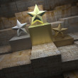 Historical star trophies — Stock Photo
