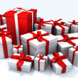 Christmas gifts in red and white — Stock Photo #2542273