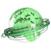 Green earth rotation — Stock Photo