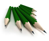 Green pencils — Stockfoto