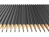 Grey pencils arrangement — Foto Stock