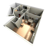 3D rendering of home interior — Stock Photo