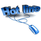 Hotline blue — Stock Photo