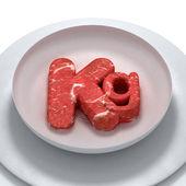 Chili di carne da vicino colpo — Foto Stock