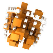 Orange and white abstract structure — Stock Photo