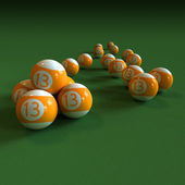 Orange billiard balls number 13 — Stok fotoğraf