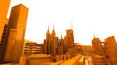 Orange futuristischen stadt — Stockfoto