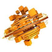 橙色旋转 — 图库照片