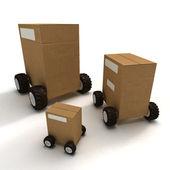 Package transportation — Stock Photo