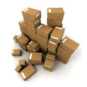 Piles of boxes — Stock Photo