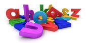 Plastic colourful letters — Stock Photo