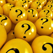 Mysterious yellow balls — Stock Photo