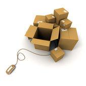 Ready online shipment — Stock Photo