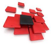 Rode en zwarte tegels — Stockfoto
