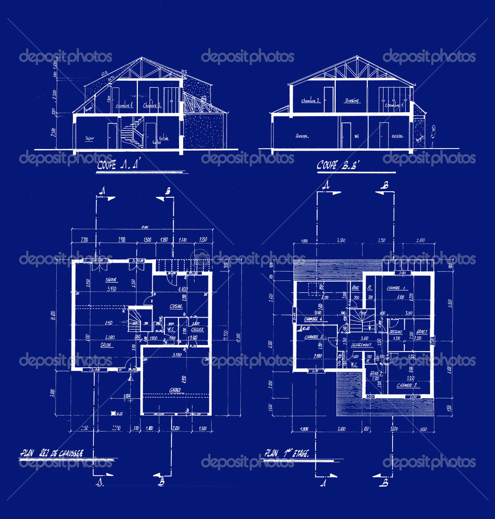 blueprints for the construccion of a house photo by franckito