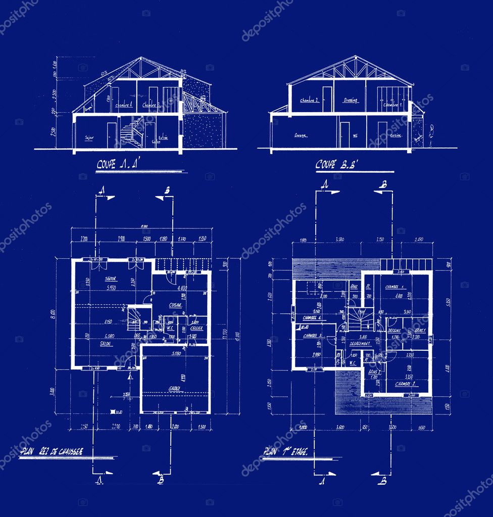House blueprints stock photo franckito 2540403 for Blueprint for houses free