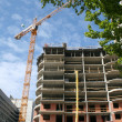 Construction of tall buildings — Stock Photo