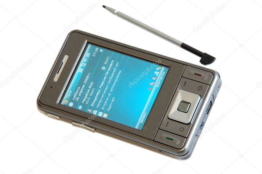 Hi tech mobile phone stock image