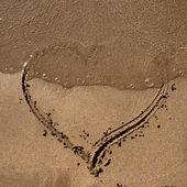 砂の上の心 — ストック写真
